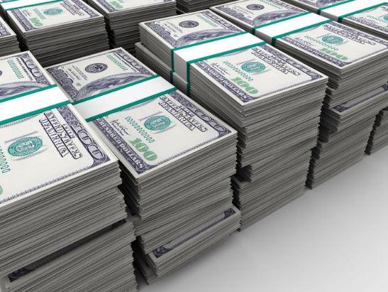 Un millon de dolares pesa 10 kilos