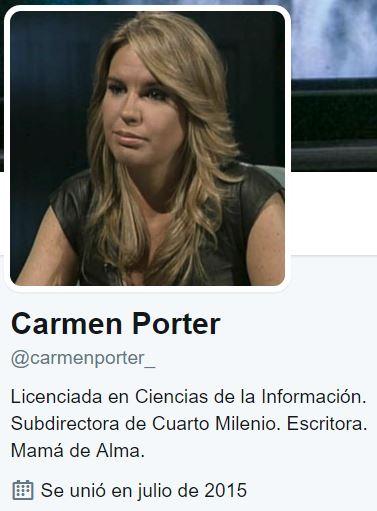 Carmen porter for Twitter cuarto milenio